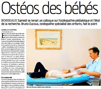 article SUD OUEST Bruno Ducoux